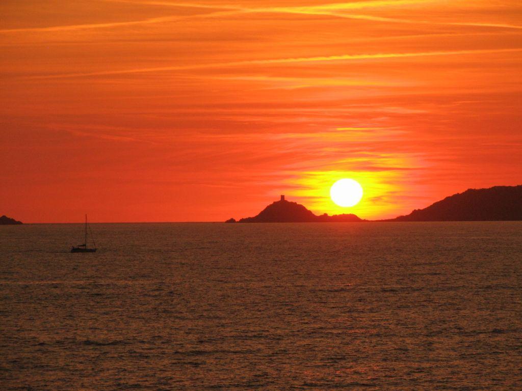coucher de soleil Îles Sanguinaires